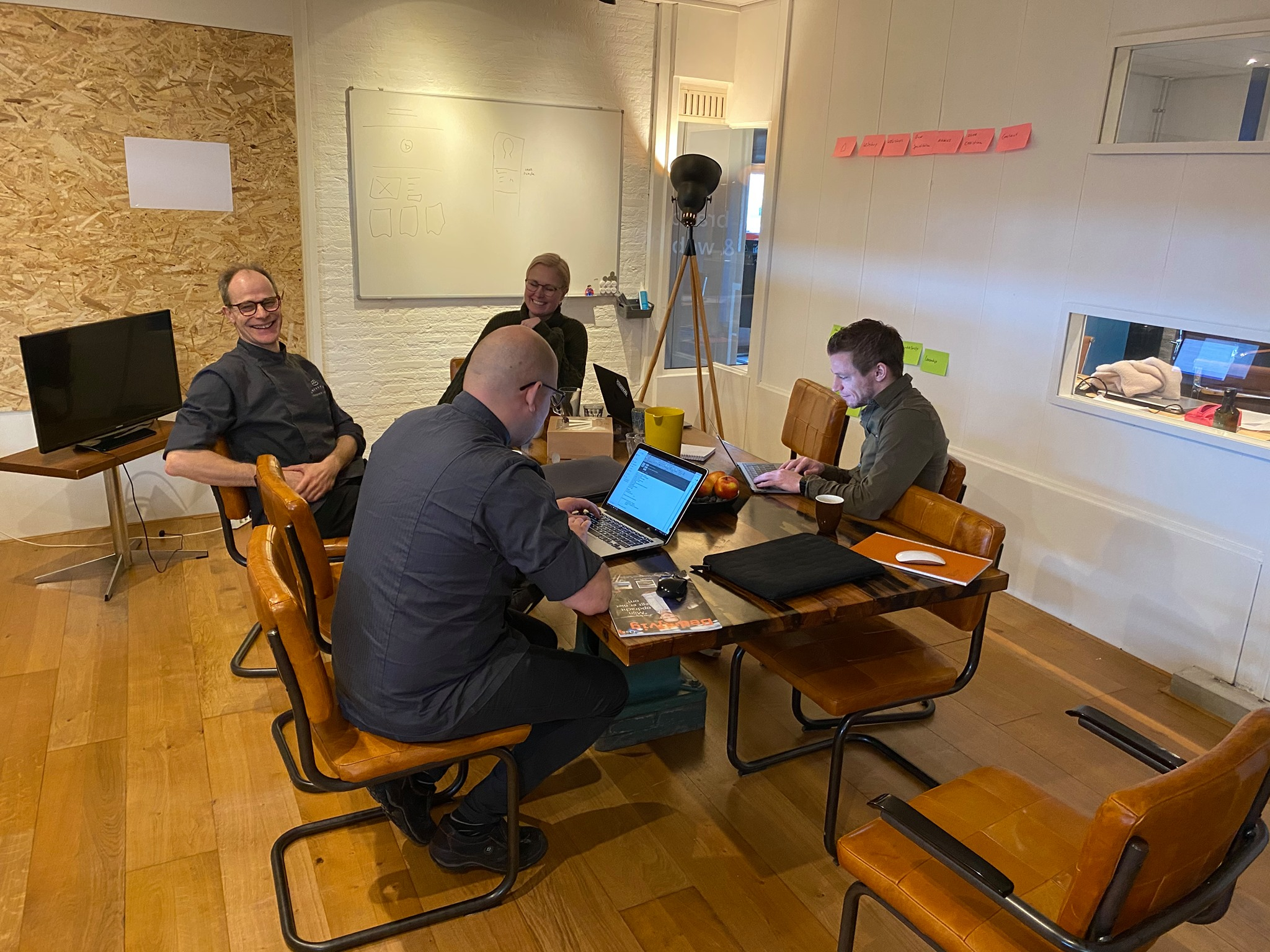 Team Chef du Web tijdens sprint van Christan