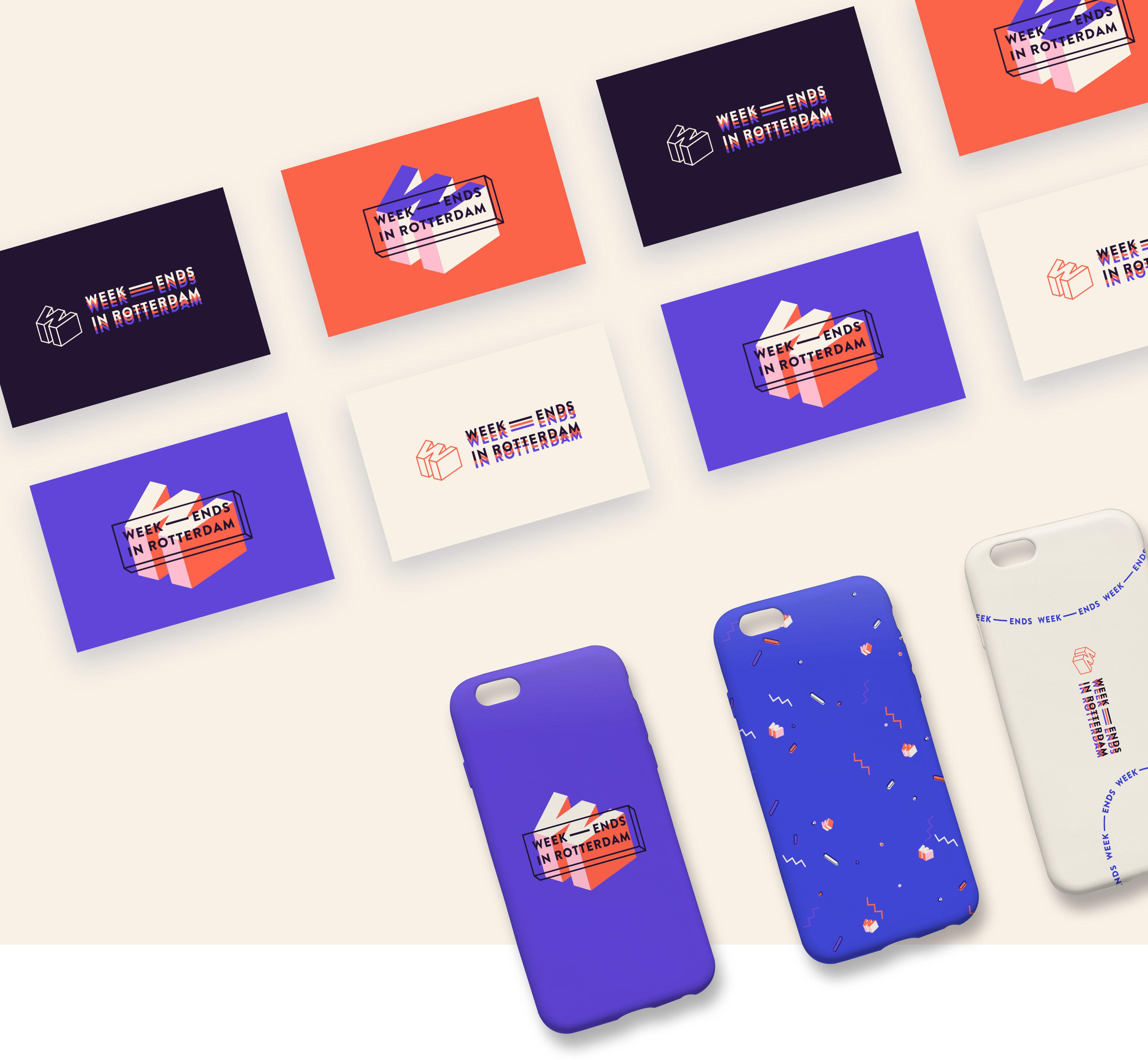 Visitekaartjes en telefoonhoesjes voor Weekends in Rotterdam